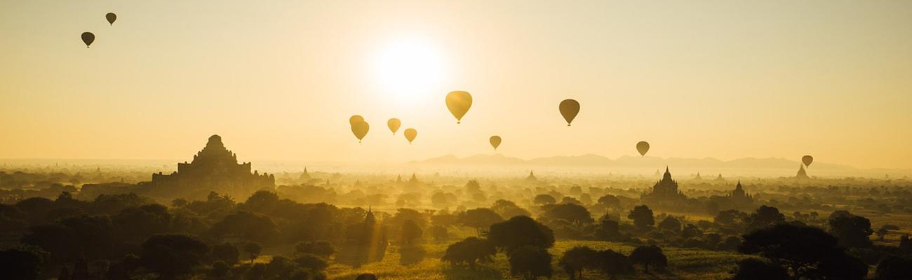 Myanmar-Birmania | En globo sobre los dos mil templos de Bagan